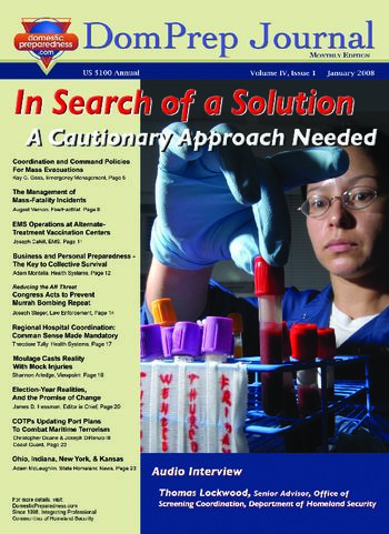 DomPrep Journal: In Search of a Solution, A Cautionary Approach Needed | DomPrep Journal