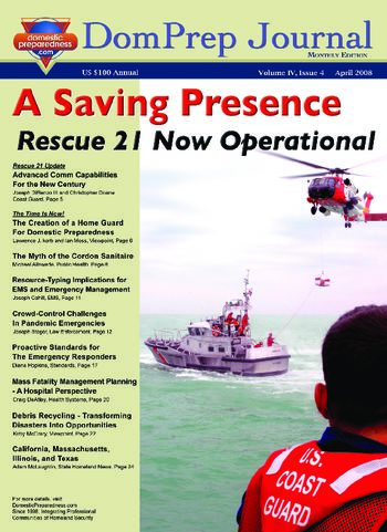 DomPrep Journal: A Saving Presence, Rescue 21 Now Operational | DomPrep Journal