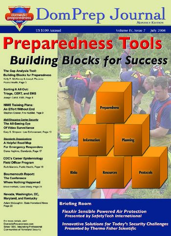 DomPrep Journal: Preparedness Tools: Building Blocks for Success | DomPrep Journal