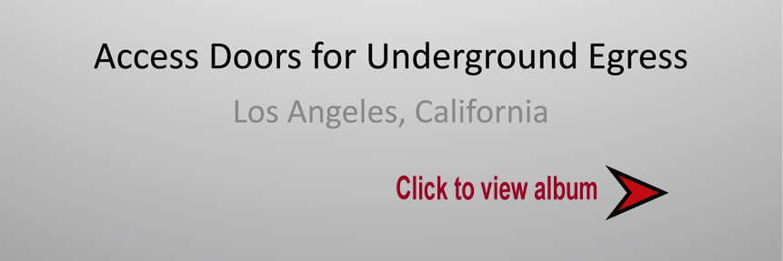 Access Doors for Underground Egress Slideshow Cover