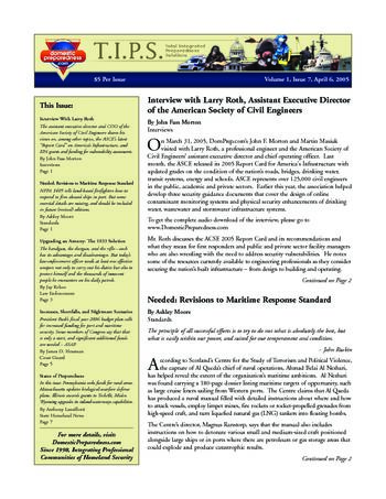 T.I.P.S. (Total Integrated Preparedness Solutions) Volume I, Issue 7 | DomPrep Journal