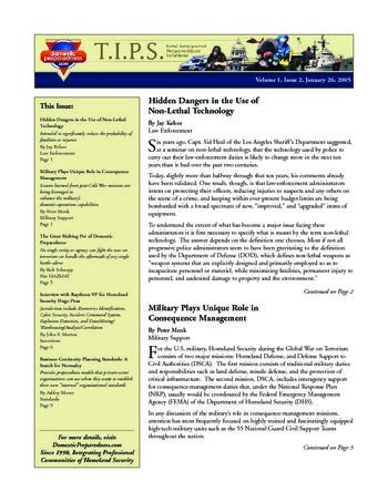 T.I.P.S. (Total Integrated Preparedness Solutions) Volume I, Issue 2 | DomPrep Journal