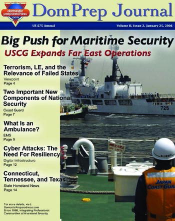 DomPrep Journal: Big Push for Maritime Security, USCG Expands Far East Operations, Volume II, Issue 2 | DomPrep Journal