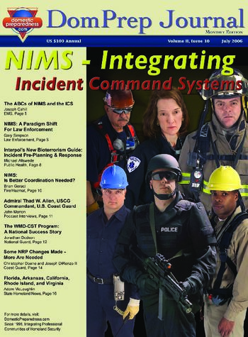 DomPrep Journal: NIMS - Integrating Incident Command Systems | DomPrep Journal