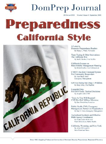 Preparedness California Style | DomPrep Journal