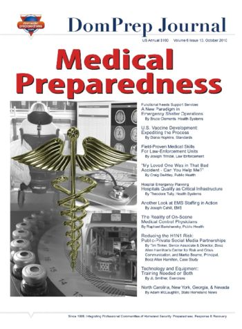Medical Preparedness | DomPrep Journal