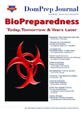 BioPreparedness: Today, Tomorrow & Years Later | DomPrep Journal